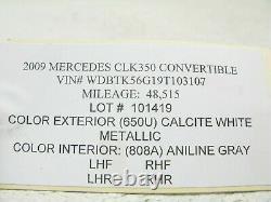 04-09 Mercedes W209 Clk500 Clk320 Clk550 Roof Top Latch Hydraulic Cylinder 10141