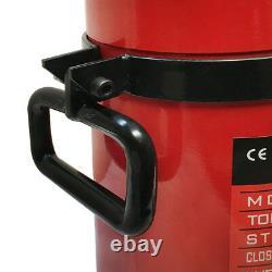 100 Ton 12 Stroke Double Acting Hydraulic Cylinder Lifting Jack Ram 19.35H