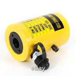 20T Hydraulic Hollow Hole Cylinder Jack Plunger Ram 2 inch Manual Oil Pump HOT