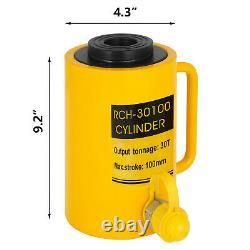 30Ton 4 Stroke Ram Hollow Hydraulic Cylinder Jack Lift Cylinder 100mm/4inRam