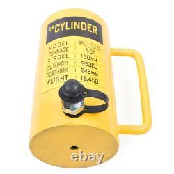 50 Tons Hydraulic Cylinder Jack 6 Stroke Single Acting Jack Ram 150mm 953cc