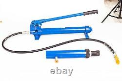 A-RAMP Hydraulic Hand Pump 10 TON With Hose & RAM Portable 10T Pressure Cylinder