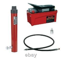Blackhawk 10 Ton Hydraulic Pump and Cylinder 10 Stroke Ram Kit with 6' Hose 5605