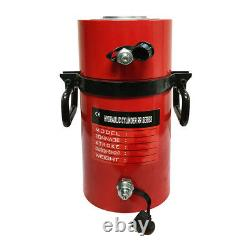Double Acting 100Ton Hydraulic Cylinder 12 Stroke Jack Ram 19.35 Closed Height