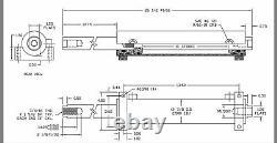 Dual ended hydraulic ram 2.5 X 1.5 X 10 cylinder orbital valve steering steer