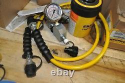 Enerpac Sch202h 20 Ton Hollow Ram Pump Cylinder Set Ga45gc Hc7206c New