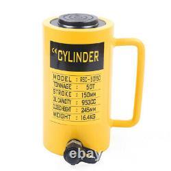 Hydraulic Cylinder Jack 50 Tons 6 Stroke Single Acting Hollow Ram Heavy Duty