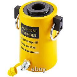 Hydraulic Cylinder Jack 60T 2 stroke Single Acting Hollow Ram Good Sealing