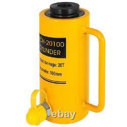 Hydraulic Cylinder Jack Hollow 20T 4 Stroke Ram Pressure Pump 100mm