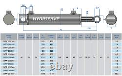 Hydraulic Double Acting Cylinder / Ram / Actuator 40mm Bore x 25mm Rod