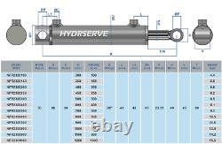 Hydraulic Double Acting Cylinder / Ram / Actuator 50mm Bore x 30mm Rod
