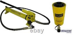 Hydraulic Hand Pump with Single-acting Hollow Ram Cylinder (30tons 4)