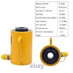 Hydraulic Hollow Hole Cylinder Jack Ram 30 Tons Industrial