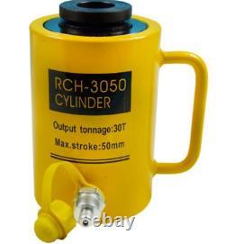 Hydraulic Hollow Hole Cylinder Jack Ram 30 Tons Industrial Sj