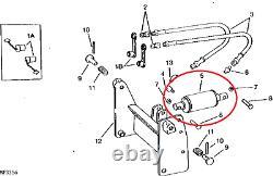 LIFT RAM CYLINDER for John Deere Hydraulic 46 47 50 Snow Blower, 51 60 Broom