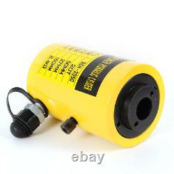 NEW 20 Ton Hydraulic Hollow Hole Cylinder Jack Plunger Ram 2in Manual Oil Pump