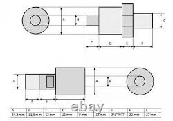 Single-acting Hollow Ram Cylinder (100Tons-3) (YG-10075K)