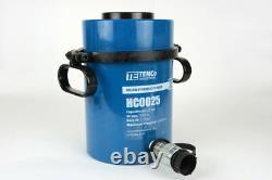 TEMCo Hollow Hydraulic Cylinder Ram 60 TON 2 In Stroke 5 YEAR Warranty