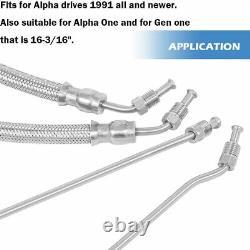 Trim Tilt hydraulic Ram Cylinder Hose Kit for Mercruiser Alpha One Gen Two 1 2