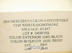 04-09 Mercedes W209 Clk500 Clk320 Clk550 Lignes D'huile De Pompe Hydraulique Tuyau 0409