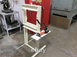 10 Ton Power Team Ram-pac H-frame Presse Hydraulique Fabriqué Aux États-unis. Pompe À 2 Vitesses