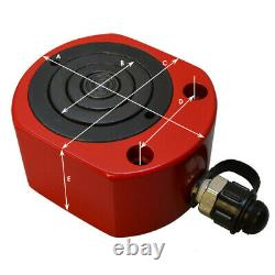 20 Ton 26mm 1.02stroke Multi Stage Cylindre Hydraulique Plat Jack Profil Bas Ram