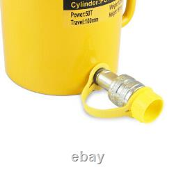 50 Tonnes 4 Temps Simple Action Hollow Ram Cylindre Hydraulique Jack Fcy-50