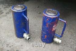 Action Ram 20 Tonnes Cylindre Hydraulique Jack Ram 100mm 20 Tonnes X2