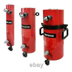 Cylindre Hydraulique À Double Action De 20 Tonnes 12 Temps Jack Ram 18 Hauteur Fermée
