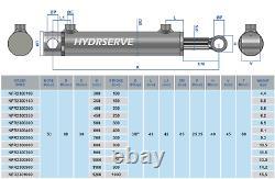 Cylindre Hydraulique À Double Action / Ram / Actionneur 50mm Oreiller X 30mm Rod