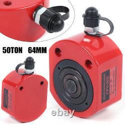 Cylindre Hydraulique Coup Jack Plat Profil Bas Ram Outil Acier 50 Ton 64mm 2,52