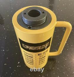 Cylindre Hydraulique Creux De 20 Tonnes Jack Ram Puller Trou 100mm Stroke Uk Seller