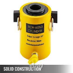 Hydraulique Cylindre Jack 60t 2 Course Single Actionne Hollow Ram Bon Scellement
