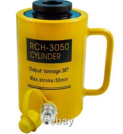 Hydraulique Hole Cylinder Jack Ram 30 Tons Industrial Sj