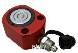 Profilé De 20 Tonnes De Faible Hauteur Cylindre Hydraulique Jack Ram Lifting 12mm Stroke