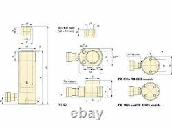 Ram Hydraulique Enerpac 10 Tonnes Rc108