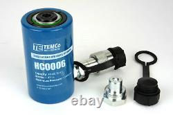 Temco Hc0006 Cylindre Hydraulique Ram Simple Acting 10 Ton 2 Inch Stroke