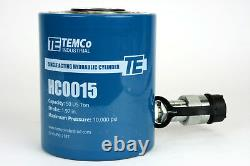 Temco Hc0015 Cylindre Hydraulique Ram Simple Acting 50 Ton 2 Inch Stroke
