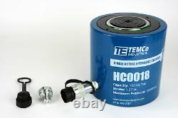 Temco Hc0018 Cylindre Hydraulique Ram Simple Acting 100 Ton 2 Inch Stroke