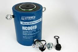 Temco Hc0019 Cylindre Hydraulique Ram Simple Acting 100 Ton 4 Inch Stroke