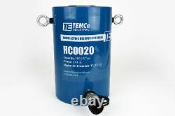 Temco Hc0020 Cylindre Hydraulique Ram Simple Acting 100 Ton 6 Inch Stroke