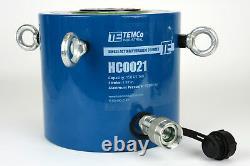 Temco Hc0021 Cylindre Hydraulique Ram Simple Agissant 150 Ton 2 Pouces