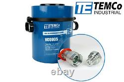 Temco Hollow Hydraulic Cylinder Ram 100 Ton 3 In Stroke 5 Year Garantie