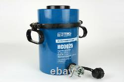 Temco Hollow Hydraulic Cylinder Ram 60 Ton 2 In Stroke 5 Year Garantie