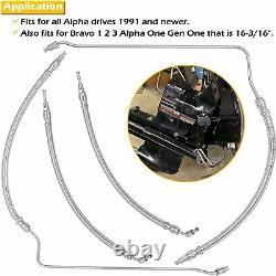Trim/tilt Hydraulic Ram Cylinder Hose Kit Pour Marchand Alpha One Bravo Gen 1